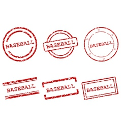Baseball stamps vector image