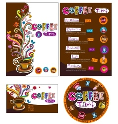 Corporate style for cafe or shop vector