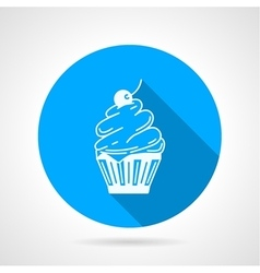 Contour icon for cupcake with cream vector