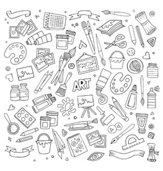 Art and craft symbols and objects vector
