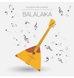 Musical instruments graphic template balalaika vector