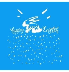 Easter bunny lettering 05 a vector