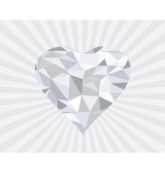 Diamond heart s vector