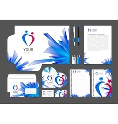 Item set of corporate identity for your business vector