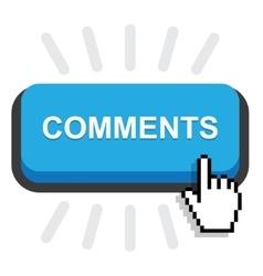 Blue comment button vector