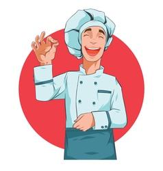 Happy cook vector