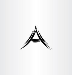 a logo letter black icon symbol vector image