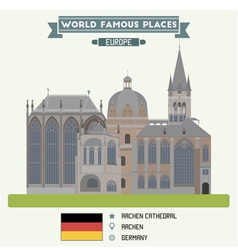 Aachen Cathedral vector image