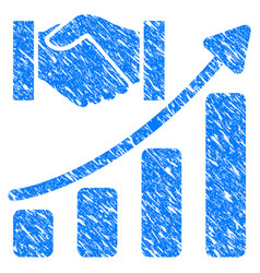Acquisition hands growth chart grunge icon vector