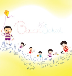 back to school playing vector image