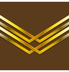 Bright golden arrow shapes background vector image