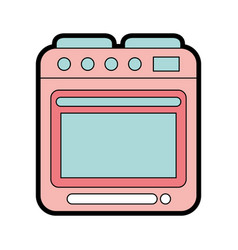 Cute oven graphic design vector