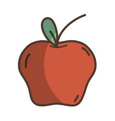 Delicious fresh apple organic fruit vector