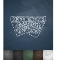 Deportation icon hand drawn vector