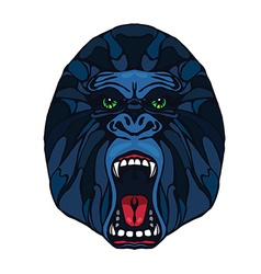 Growling gorilla tattoo vector image