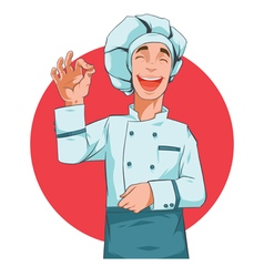 Happy Cook vector image