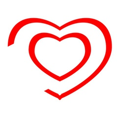 Heart icon lines vector image vector image