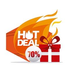 Hot deals vector