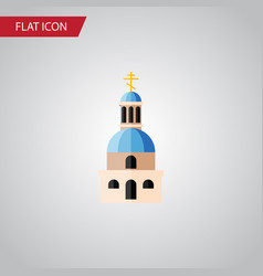 Isolated building flat icon church element vector