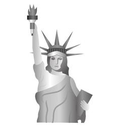 Liberty statue landmark icon vector
