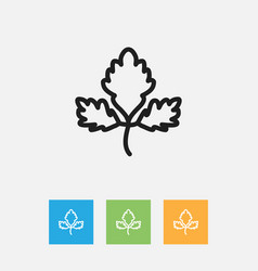 Of meal symbol on parsley vector