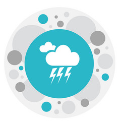 Of weather symbol on lightning vector