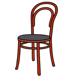 Old red chair vector