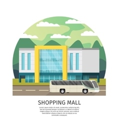 Orthogonal shopping mall round design vector