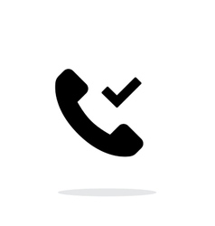Phone call accept simple icon on white background vector