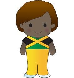 Poppy jamaica boy vector