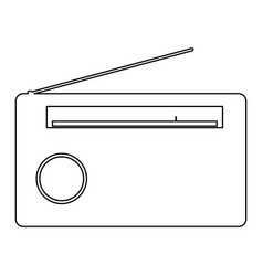radio the black color icon vector image vector image