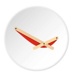 Recliner icon circle vector