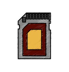 Sd card icon vector