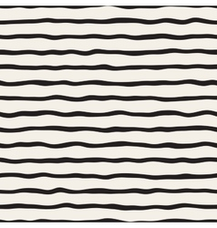 Seamless Black and White Hand Drawn Stripes vector image