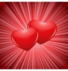 sparkling hearts vector image vector image