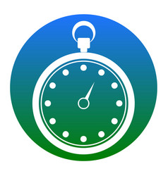 Stopwatch sign white icon in vector