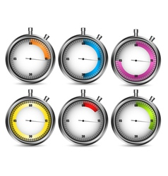 Stopwatches vector image