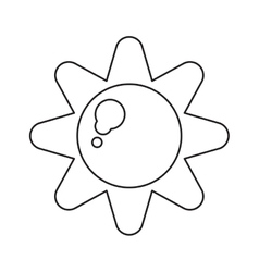 Sun energy natural symbol design pictograph vector