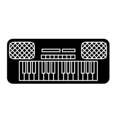 synthesizer icon black sign vector image vector image