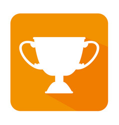 Trophy winner isolated icon vector