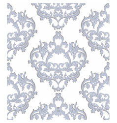 Vintage baroque floral ornament damask pattern vector