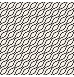 Wavy Ripple Lines Seamless Black and White vector image vector image