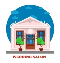 Wedding salon for marriage ceremony building vector image vector image
