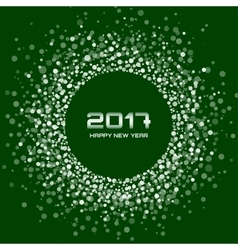 White green new year 2017 circle frame background vector