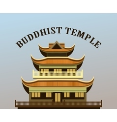 Buddhist temple old vector
