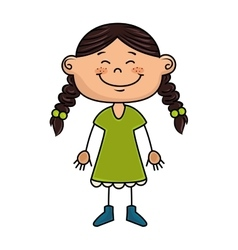 Girl kid cartoon smiling vector