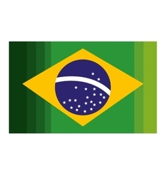 Brazil flag isolated icon vector