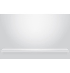 Empty shelf vector