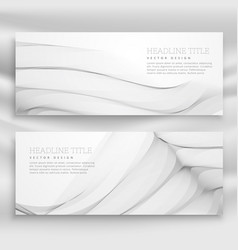 Great wave banner template set in modern style vector