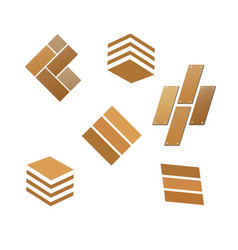 tile wooden flooring logo vector image